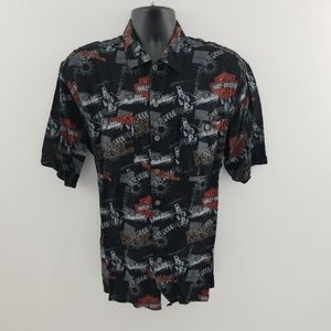 Harley Davidson botton down shirt L F47